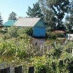 затоплены дома и огороды