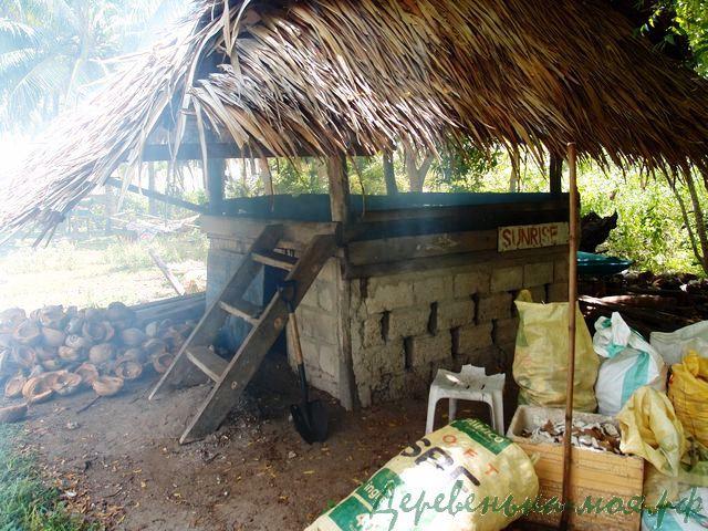 печь для сушки кокоса