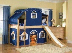 Идеи для детской комнаты. Кровать-чердак